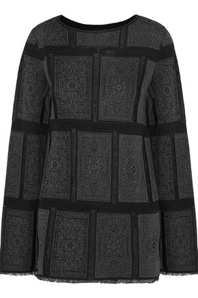 MAISON MARGIELA Jacquard-paneled stretch-knit sweater
