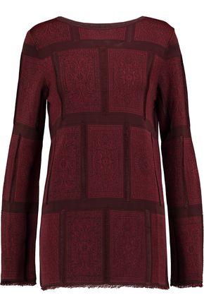 MAISON MARGIELA Jacquard-paneled stretch-knit sweater