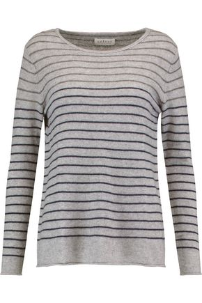 VELVET by GRAHAM SPENCER Striped cashmere sweater