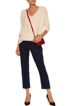 GANNI Claudia stretch-knit sweater