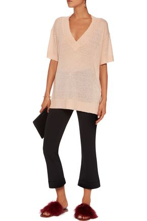 BY MALENE BIRGER Allawilde distressed stretch-knit sweater