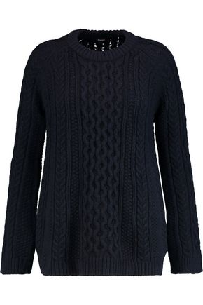 THEORY Lewens cable-knit wool sweater