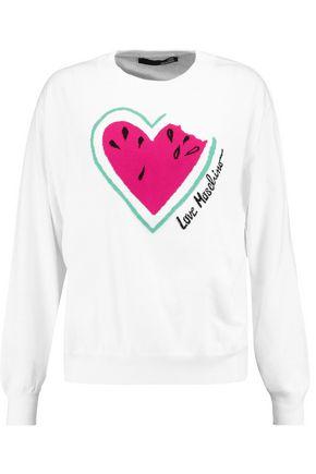 LOVE MOSCHINO Intarsia-knit cotton sweater