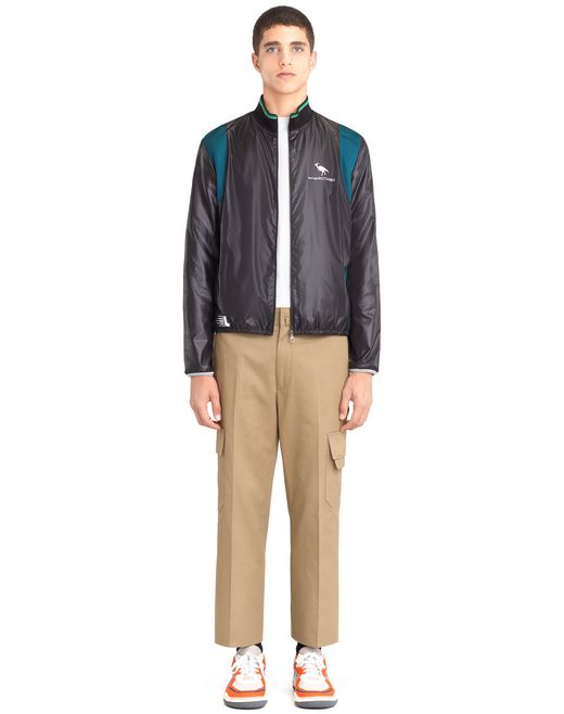lanvin mixed-material jacket men