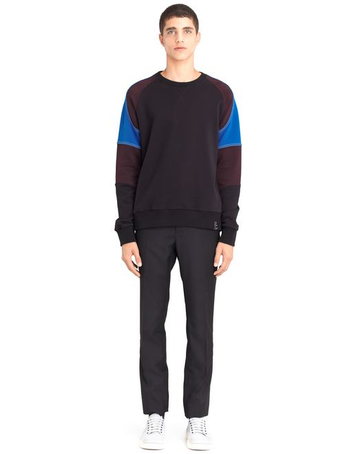 lanvin color-block sweatshirt men