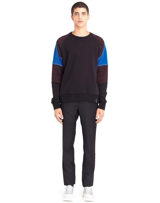 lanvin color-block sweatshirt men