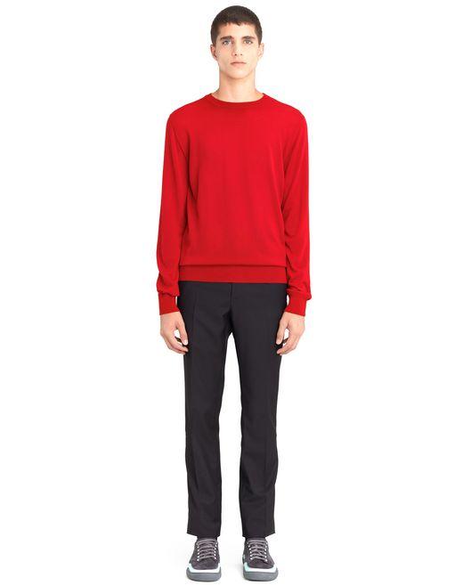 lanvin crew neck cashmere sweater men
