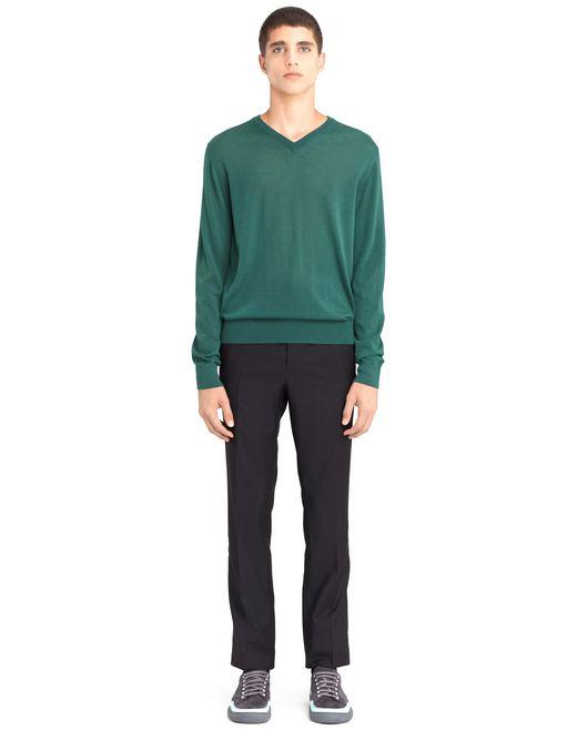 lanvin v-neck cashmere sweater men