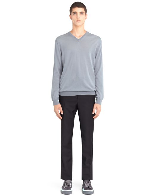 lanvin v-neck jersey sweater men