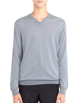 LANVIN V-NECK JERSEY SWEATER Knitwear & Sweaters U f