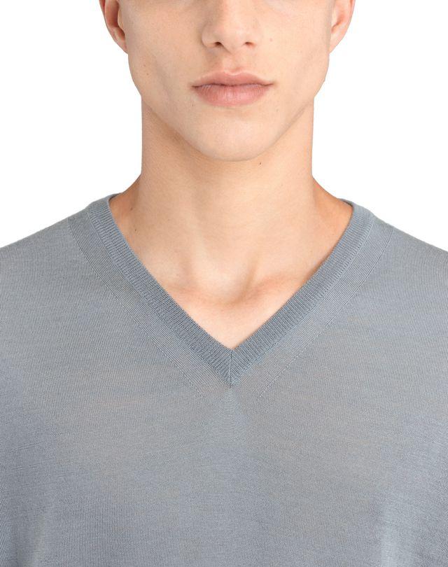LANVIN V-NECK JERSEY SWEATER Knitwear & Sweaters U a