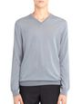 LANVIN Knitwear & Sweaters Man V-NECK JERSEY SWEATER f