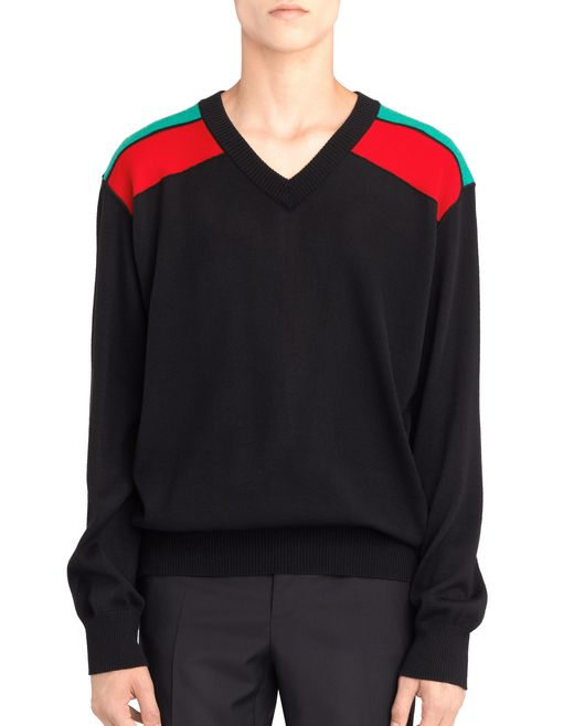 CONTRASTED SHOULDERS JUMPER - Lanvin