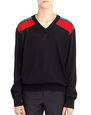 LANVIN Knitwear & Sweaters Man CONTRASTED SHOULDERS SWEATER f