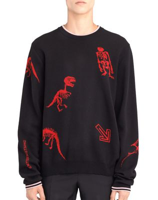 """DINO"" JACQUARD SWEATER"
