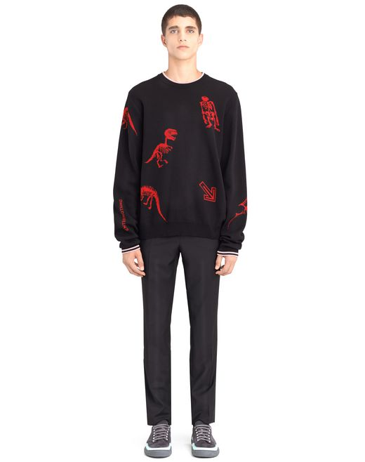 "lanvin ""dino"" jacquard sweater men"