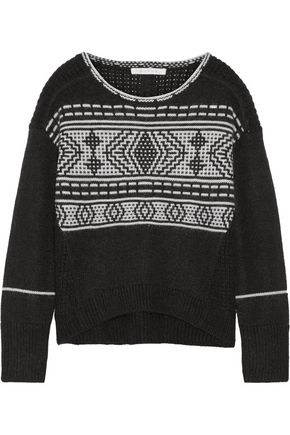 DUFFY Fair Isle merino wool-blend sweater