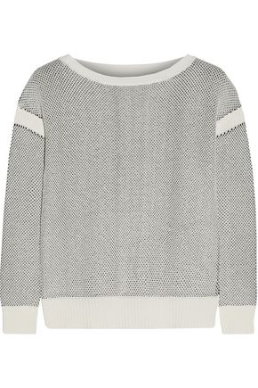 VINCE. Honeycomb-knit cotton sweater