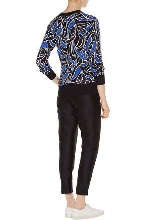 MICHAEL MICHAEL KORS Printed cotton-blend sweater