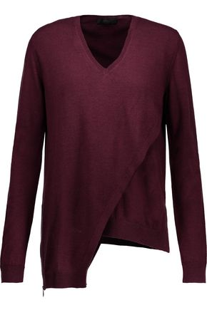 BELSTAFF Lennox asymmetric wool sweater