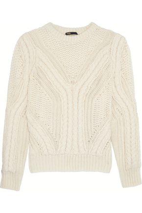 MAJE Open-knit wool-blend sweater