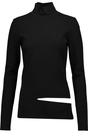 PROENZA SCHOULER Cutout stretch-knit turtleneck top