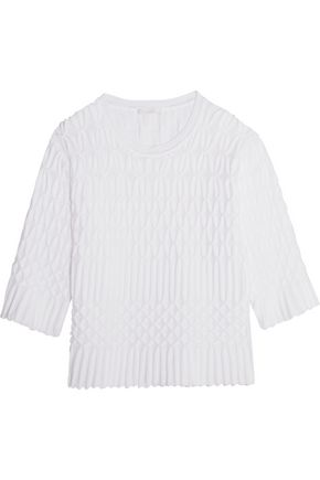 CHLOÉ Textured cotton sweater