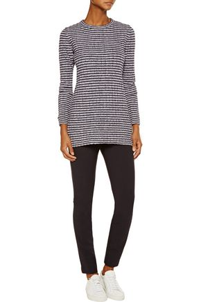 THEORY Belira Evian striped wool-blend sweater