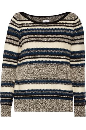 VINCE. Bouclé-trimmed wool-blend sweater