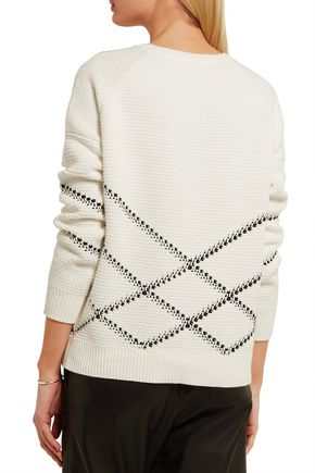 VINCE. Intarsia cotton-blend sweater