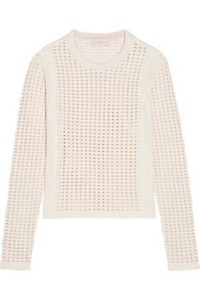TORY BURCH Cutout stretch-knit sweater