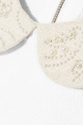 ALICE + OLIVIA Radley embellished wool-blend sweater