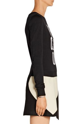 MOSCHINO Dry Clean Only intarsia wool sweater