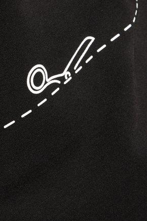 MOSCHINO Printed stretch-jersey top