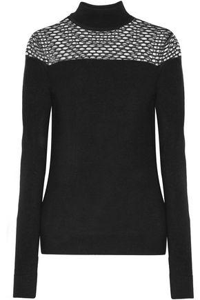 BAILEY 44 Jules tulle-paneled merino wool sweater