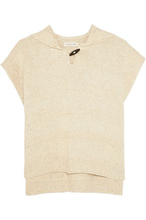 ISABEL MARANT ÉTOILE Flora cotton-blend hooded poncho