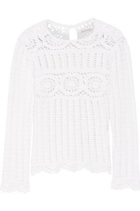 ISABEL MARANT ÉTOILE Heloise crocheted linen and cotton-blend top