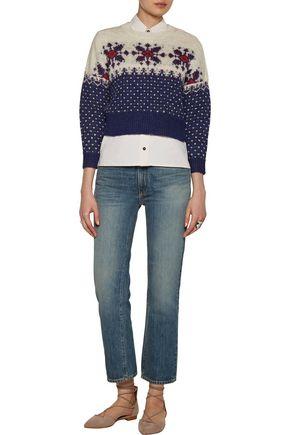 ISABEL MARANT ÉTOILE Gillian intarsia alpaca-blend sweater