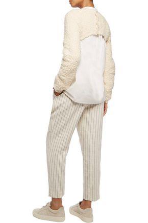 BRUNELLO CUCINELLI Cropped cotton-blend bouclé sweater