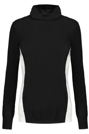 DUFFY Two-tone cashmere turtleneck sweater