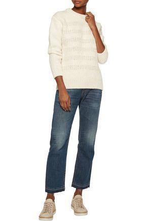 M.I.H JEANS Dryden open knit-trimmed alpaca-blend sweater