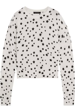 KATE MOSS EQUIPMENT Printed cashmere sweater