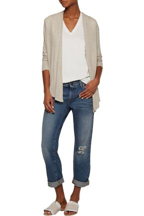 SPLENDID Wrap-effect stretch-knit cardigan