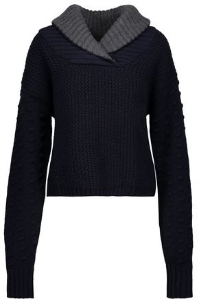 SEE BY CHLOÉ Paneled alpaca-blend sweater