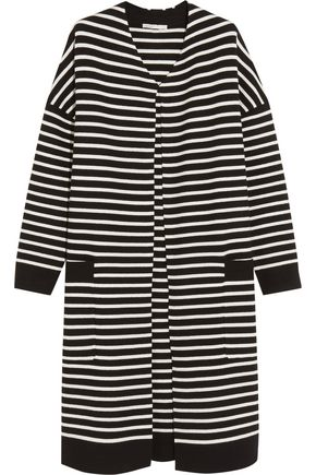 MAJE Oversized striped knitted cardigan