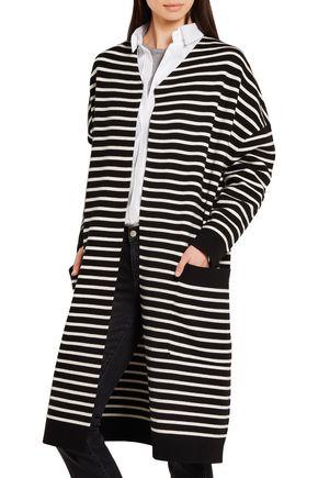 MAJE Oversized striped knitted cardigan