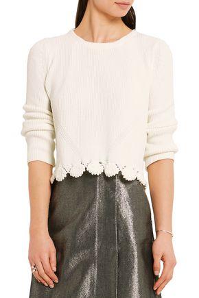 MAJE Ribbed-knit sweater