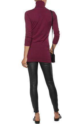 AUTUMN CASHMERE Merino wool-blend turtleneck sweater