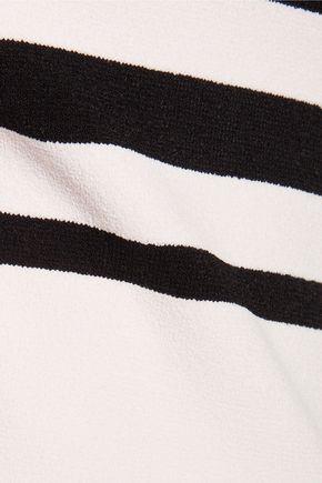 AUTUMN CASHMERE Striped stretch-knit sweater