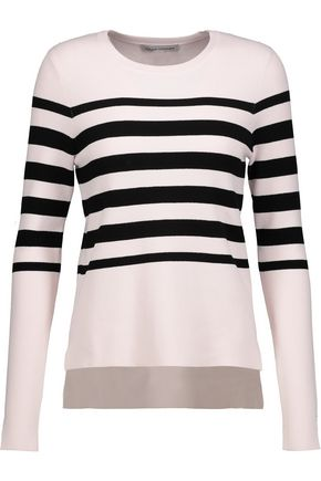 AUTUMN CASHMERE Striped stretch-knit sweater